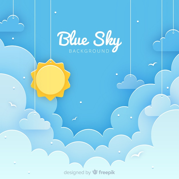 Cut out sky background Free Vector