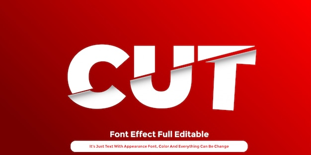 Cut paper 3d text graphic style design Premium Vector