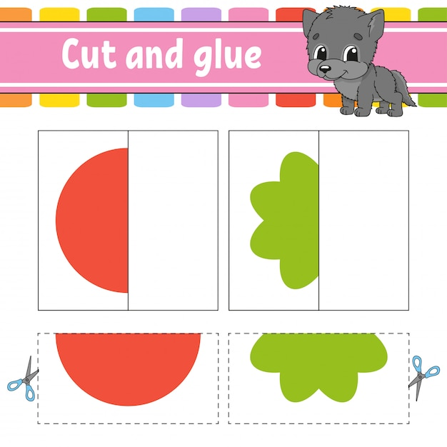 Cut and play game for kids Premium Vector