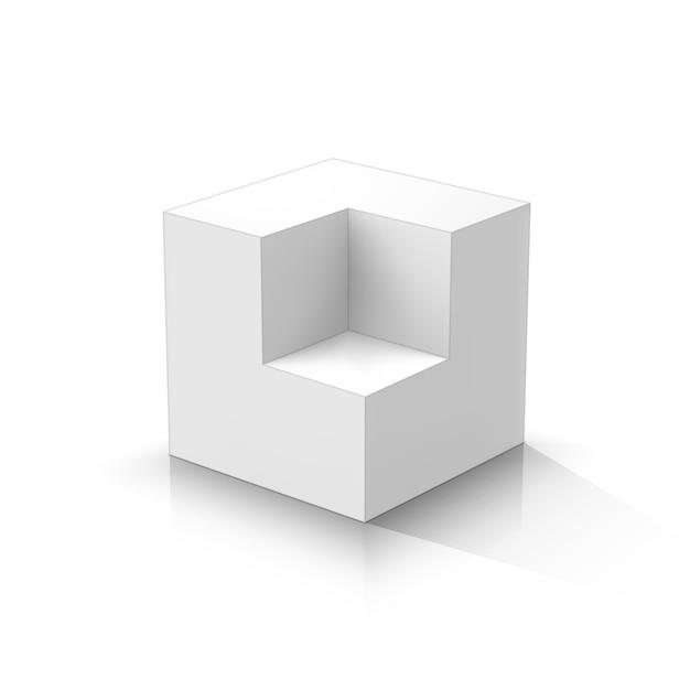 Вырез куб Premium векторы