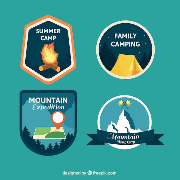 Cute adventure badges pack
