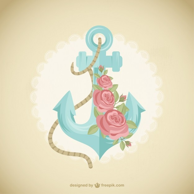 Cute anchor with flowers vector free download - Anchor pictures tumblr ...