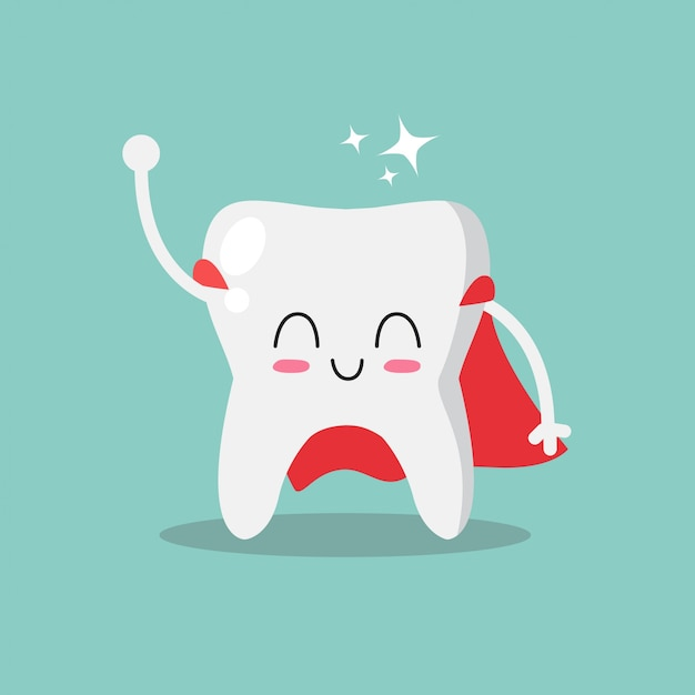 cute and funny tooth vector premium download