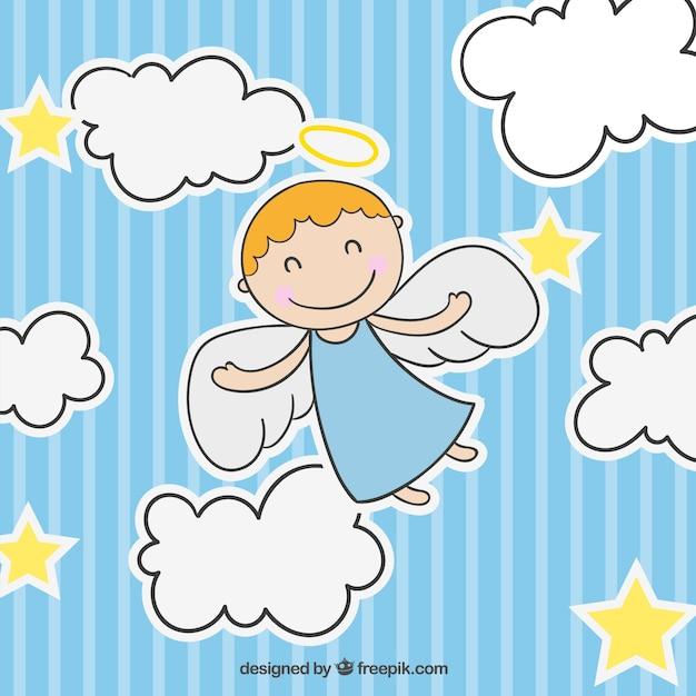 Cute angel Free Vector