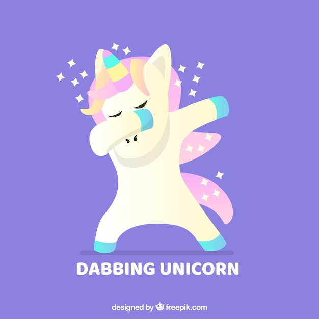 Cute animal doing dabbing Free Vector