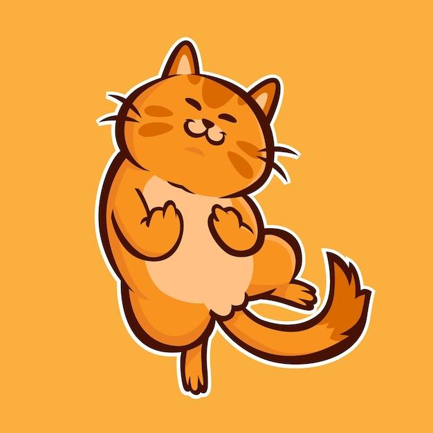 Симпатичное животное, показывающее на хуй символ Premium векторы