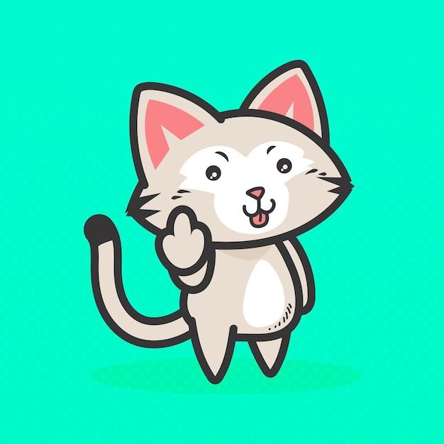 Симпатичное животное, показывающее на хуй символ Бесплатные векторы
