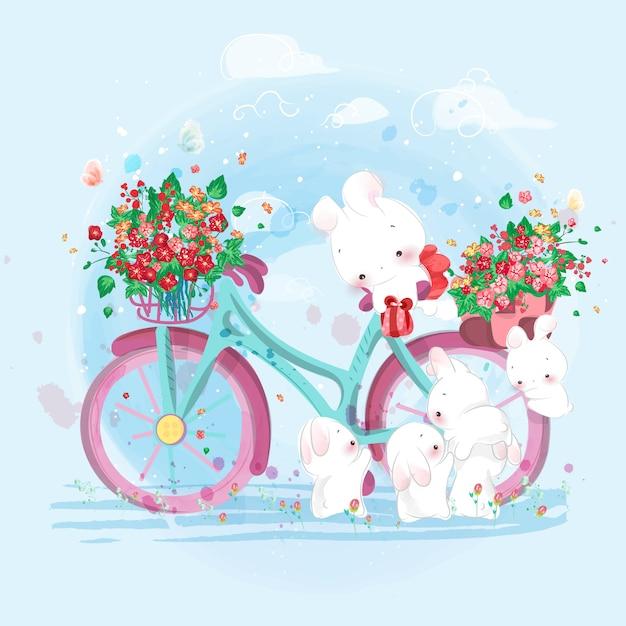 Cute animal in watercolor style; Premium Vector