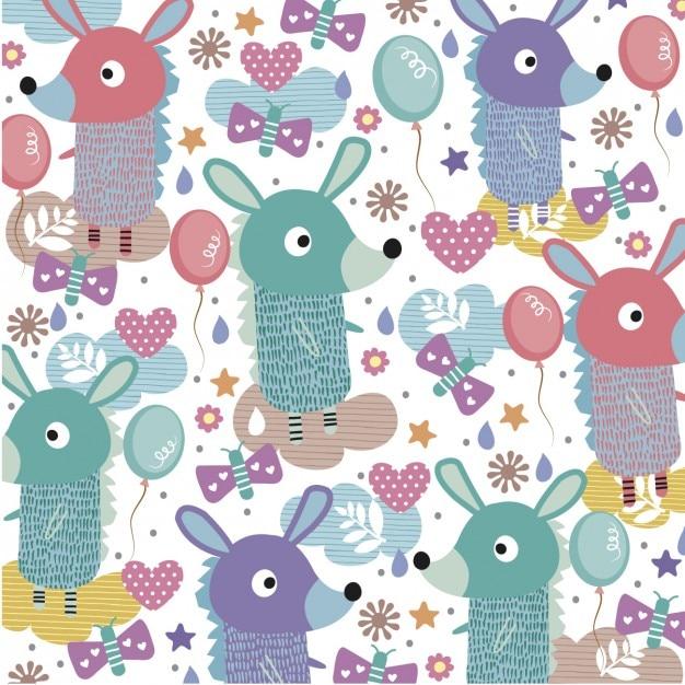 Cute Animals Background 820046