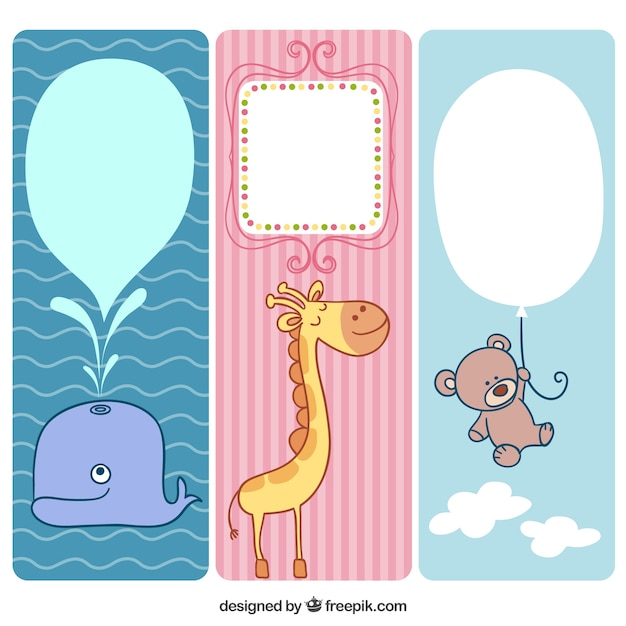Cute animals banners for baby
