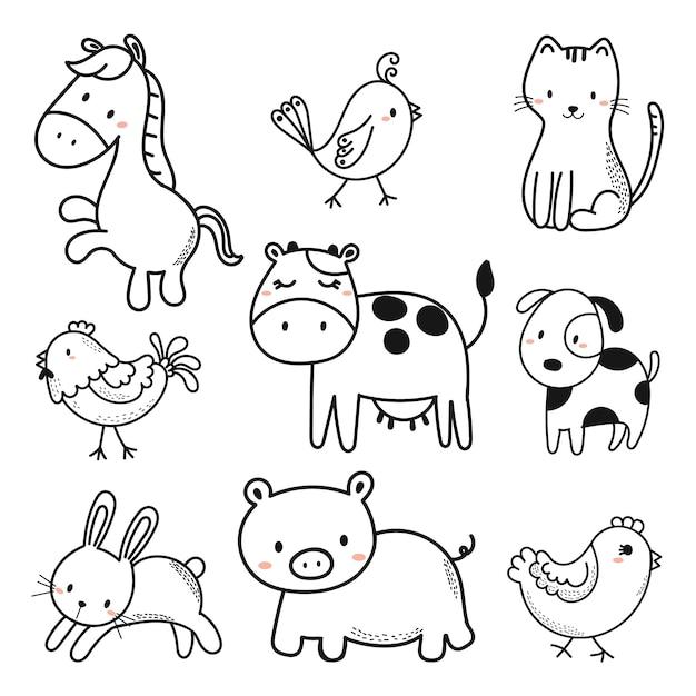 Cute animals Vector | Premium Download