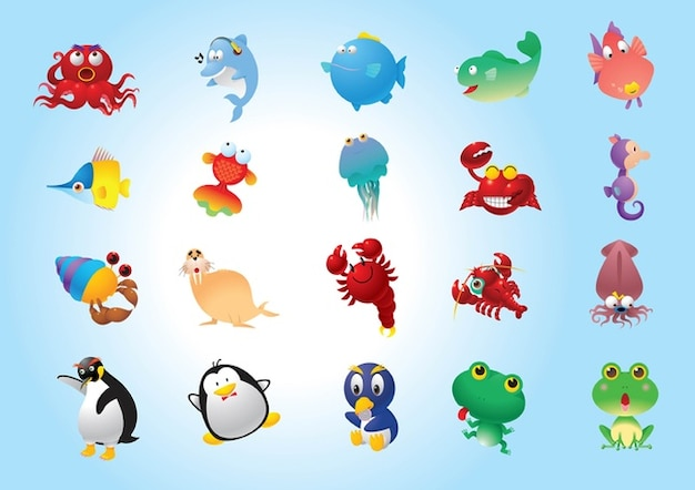 Cute Animals Free Vector