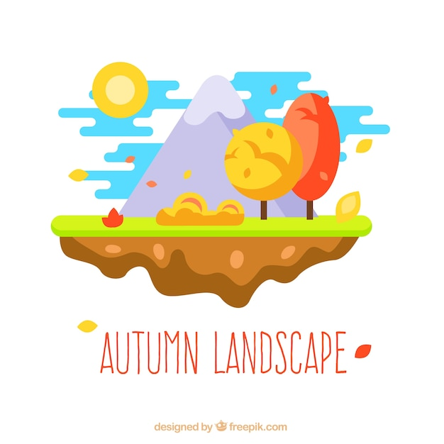 Cute autumn landscape