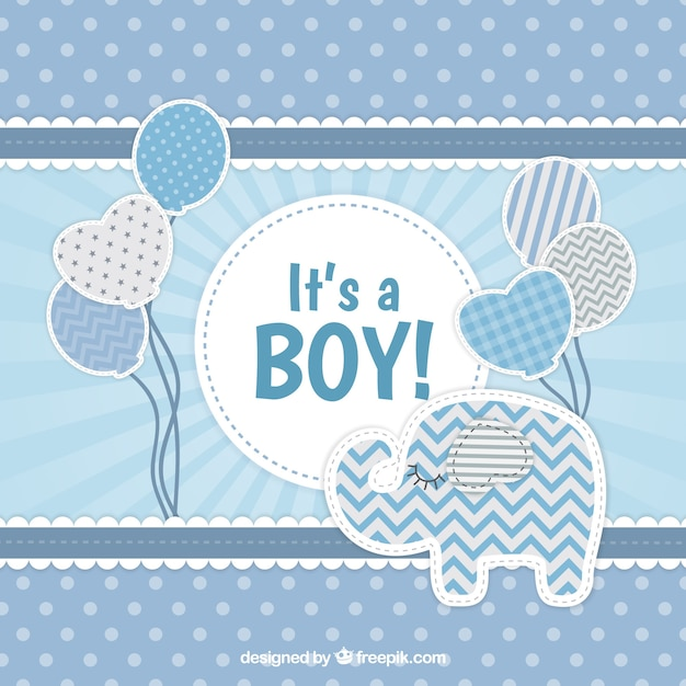 623014bde Cute baby boy background in flat style Vector | Free Download