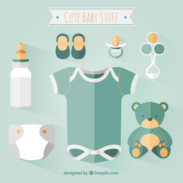 Cute Baby Clothes Vector Free Download