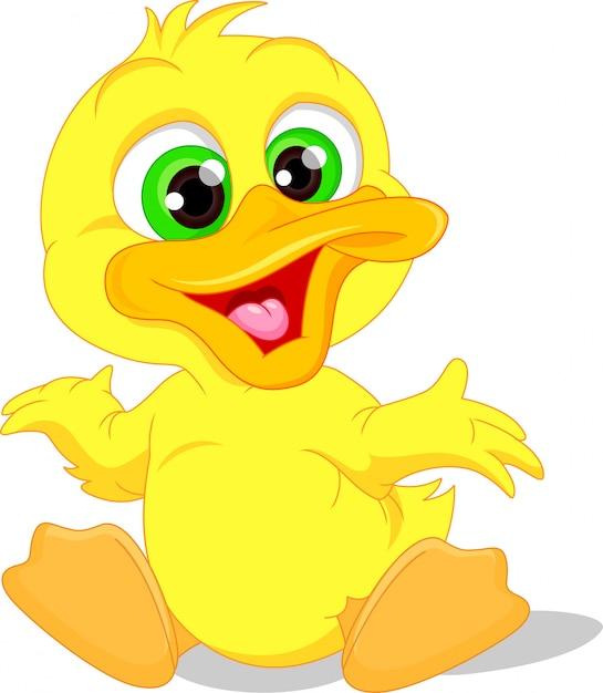 Cute baby duck cartoon Vector   Premium Download