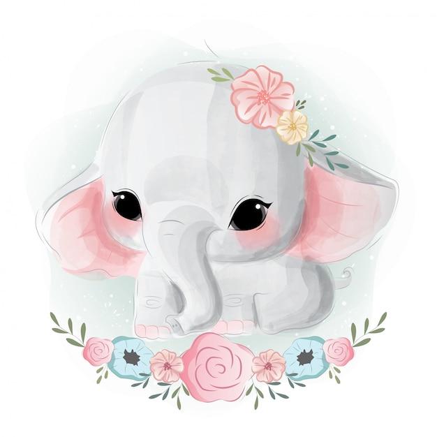 Premium Vector Cute Baby Elephant