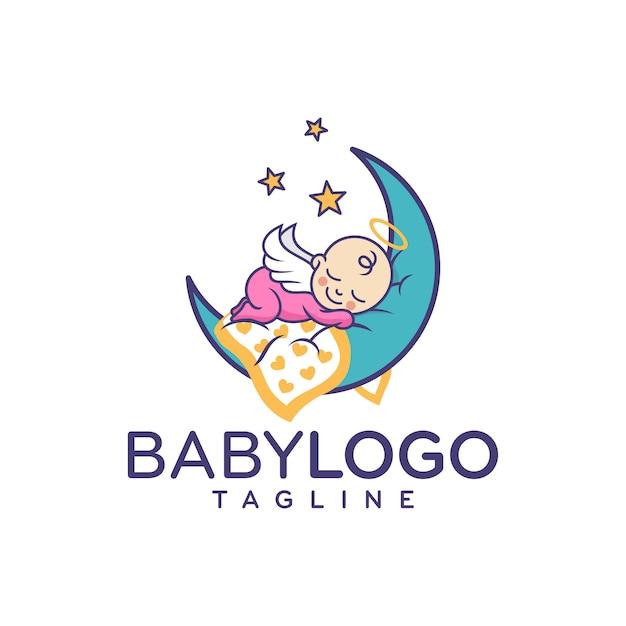 cute baby logo design vector