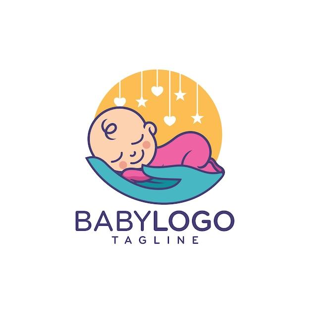 cute baby logo design vector vector