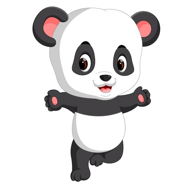 Cute baby panda cartoon Vector | Premium Download