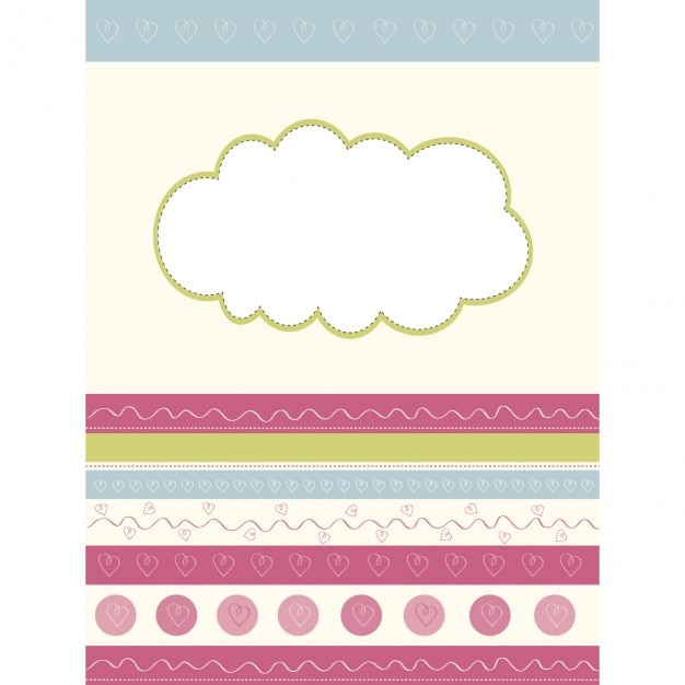 Cute baby paper wall Free Vector