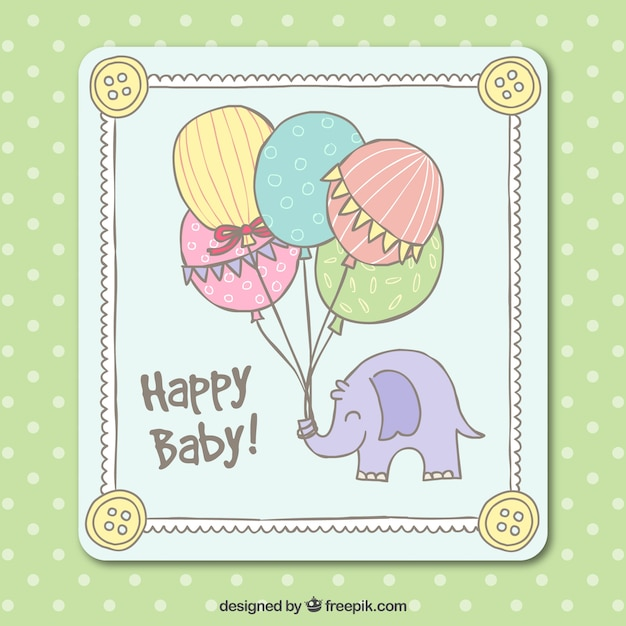 Cute Baby Shower Card In Hand Drawn Style Stock Images Page