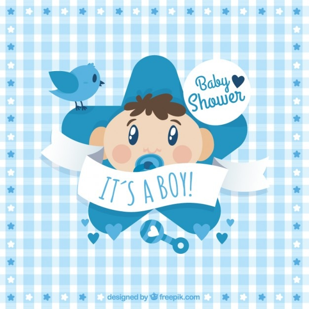 cute baby shower card vector premium download