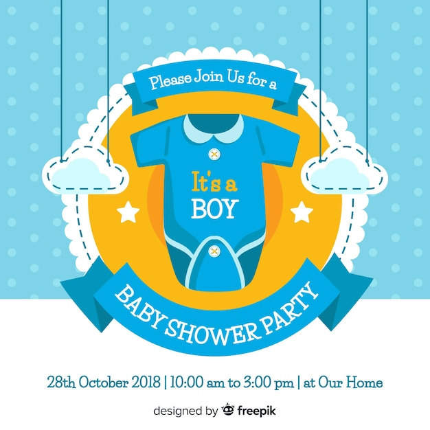 Cute baby shower concept Vector | Free Download