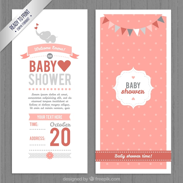 Cute baby shower invitation vector free download cute baby shower invitation free vector stopboris Images