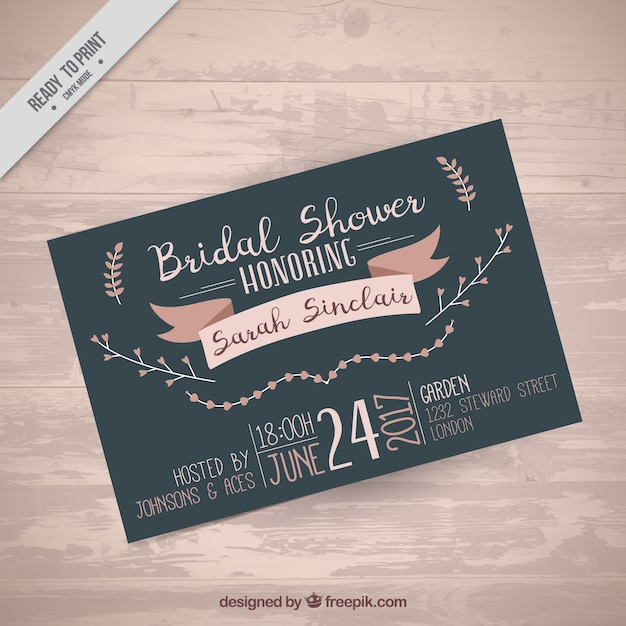 cute bachelorette invitation template vector free download