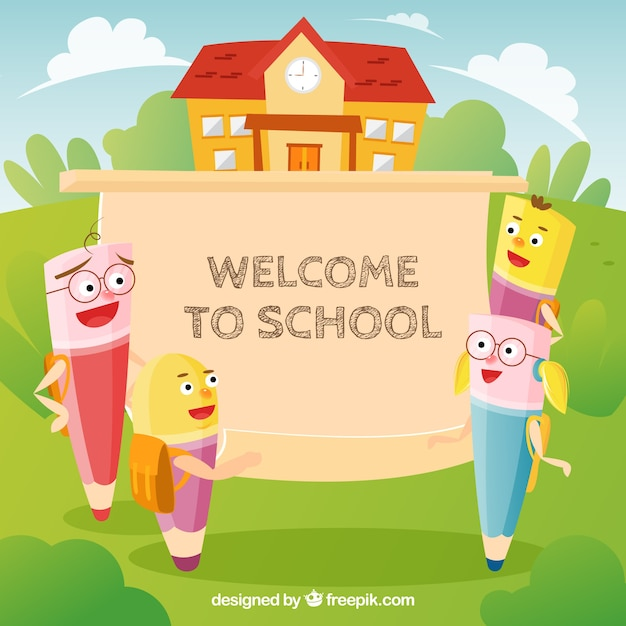 Freepik Cute Back To School Background Vector For Free