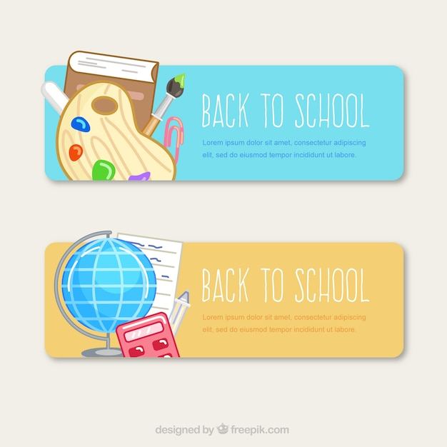Cute back to school banners
