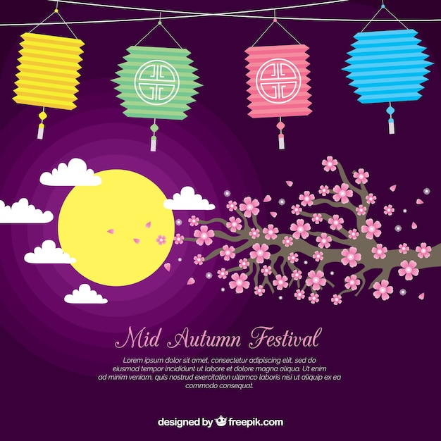 cute background, mid autumn festival