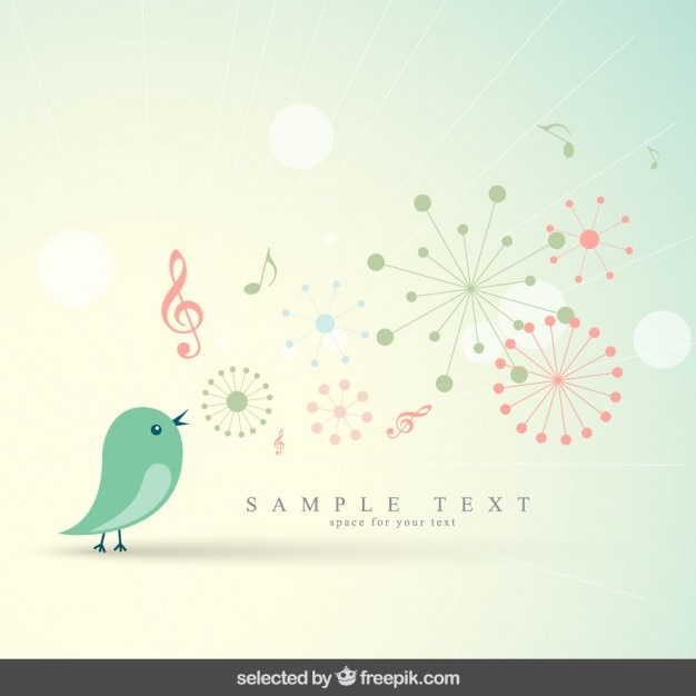 cute background with bird vector free download