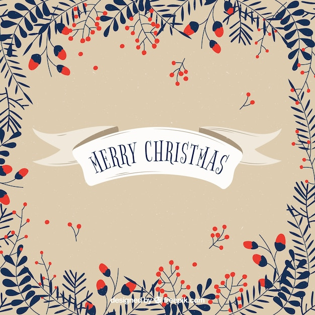 Cute background with christmas leaves vector free download cute background with christmas leaves free vector voltagebd Choice Image