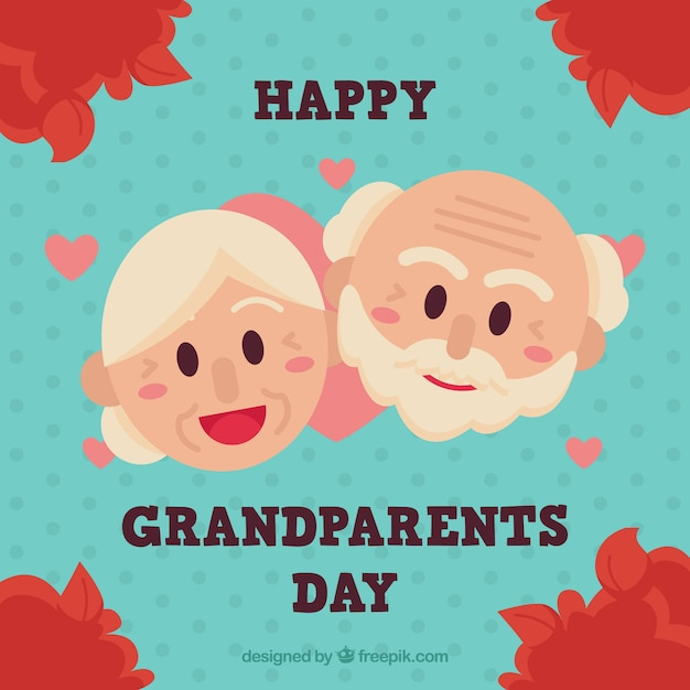 Cute background with nice grandparents