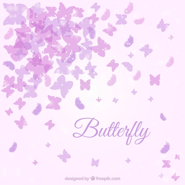 cute background with purple butterflies vector free download