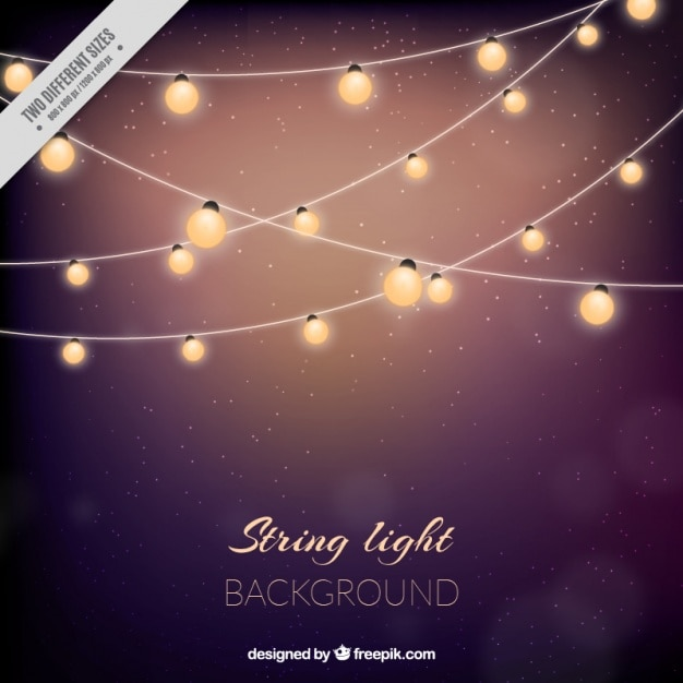 String Of Lights Background : Cute background with string lights Vector Free Download