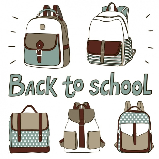 094ccd66aa Cute backpacks for back to school Vector