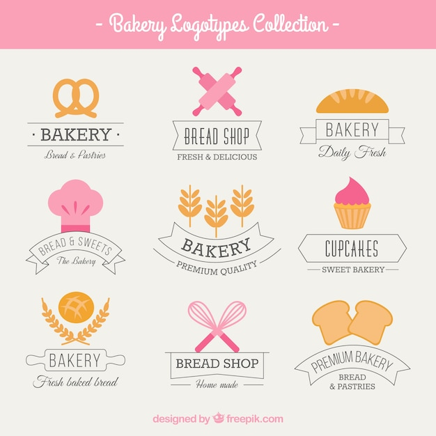Cute bakery logos vector free download cute bakery logos free vector pronofoot35fo Image collections
