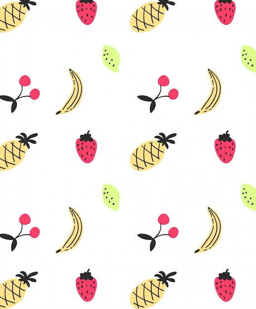 Cute banana pattern design for t shirt printing Premium Vector
