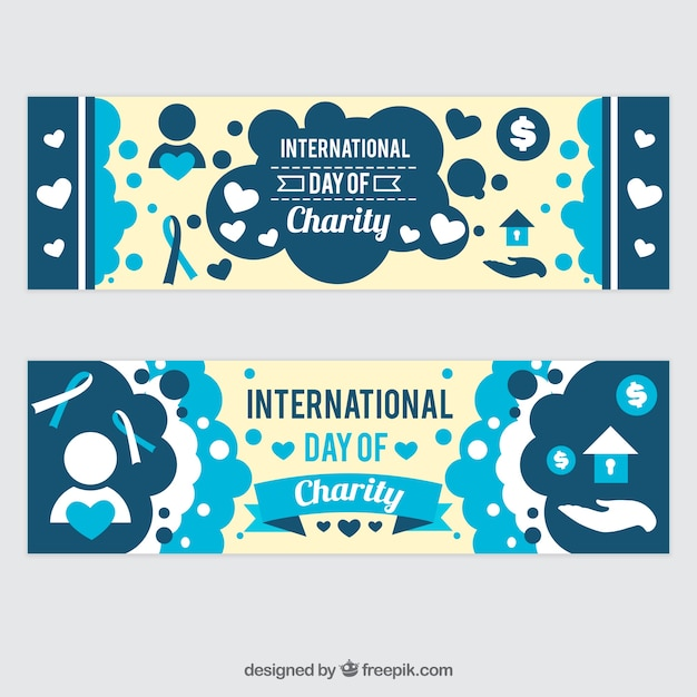 Cute banners of international charity day