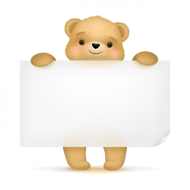 cute bear background design vector free download