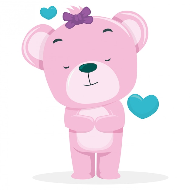 Cute bears hope to get partner on valentine's day Premium Vector