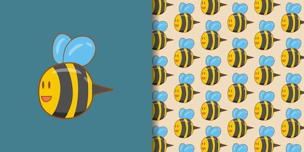 かわいい蜂のキャラクター Premiumベクター