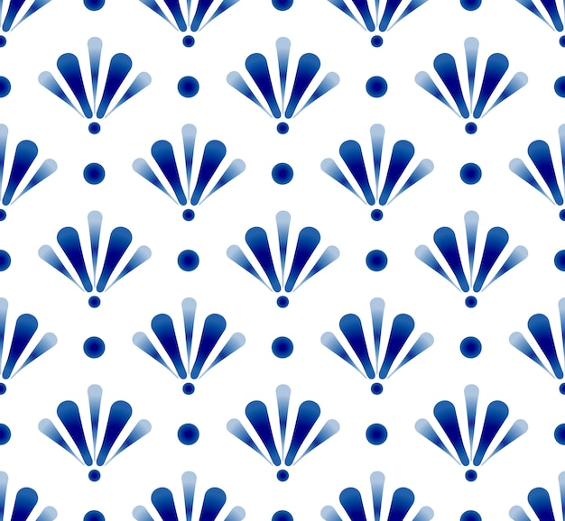 Cute blue pattern Premium Vector