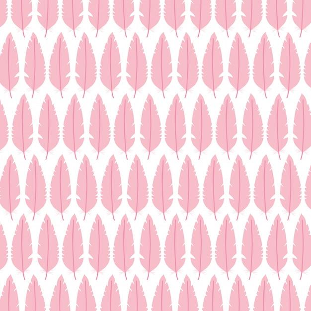 Cute bohemian feathers pattern Free Vector