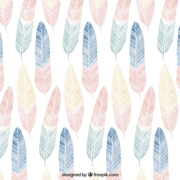 Was Ist Boho boho pattern with colored feathers vector free