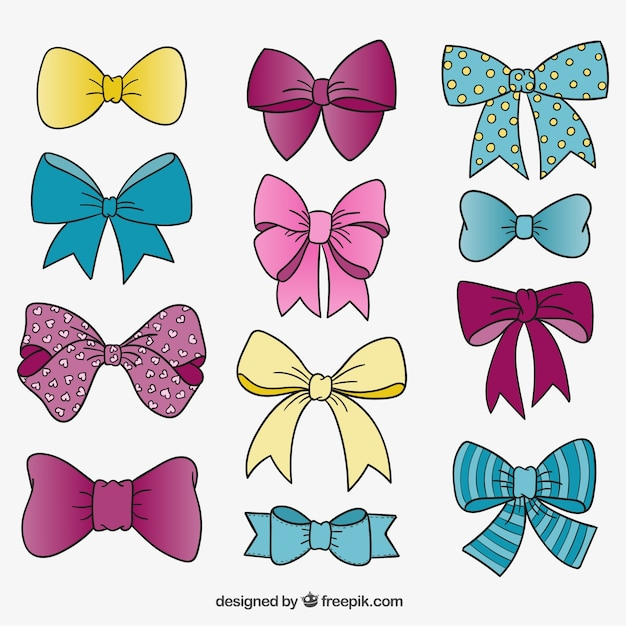 Cute Bow Tie Drawing Cute bow ties Vector |...