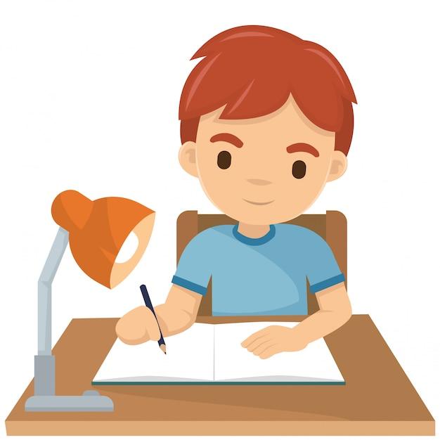 I write my homework